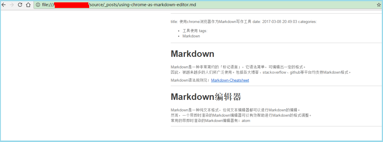 chrome-markdown